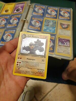 Lotto Carte Pokemon Dark Machamp 27/82 Team Rocket Italiano Prima Edizione holo