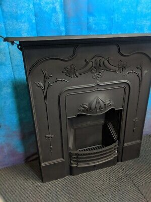 antique Victorian cast iron fire  woodburning   DELIVERY FREE OR most £35 Uk