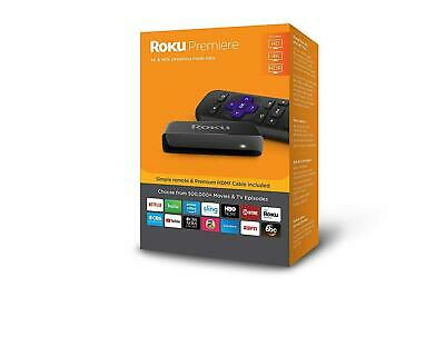 Roku Premiere Version HD/4K/HDR Streaming Media Player W/Remote & HDMI Cable NEW