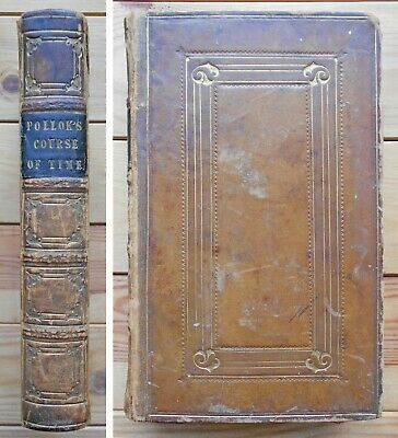 Course of Time, A Poem in Ten Books, Robert Pollok - 1837, Full Leather Binding