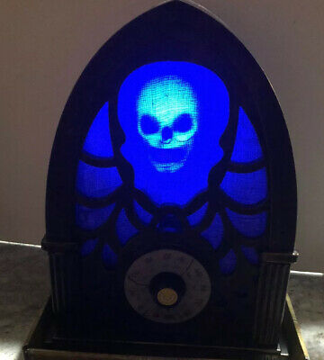 "Gemmy Animated Skull Radio With Bluetooth 12"" NEW 2018 HALLOWEEN PROP"