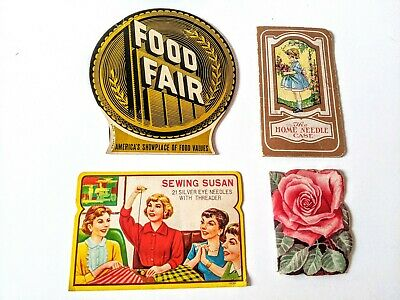 Lot of 4 Vintage Sewing Needle Books Stanley Home Sewing Susan Food Fair