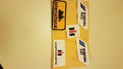 LOT OF 5 international harvester ,patch,, new old stock