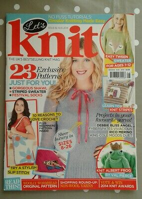 'Let's Knit' Magazine Issue 82 - 23 Exclusive Patterns, Love Crochet, Etc.