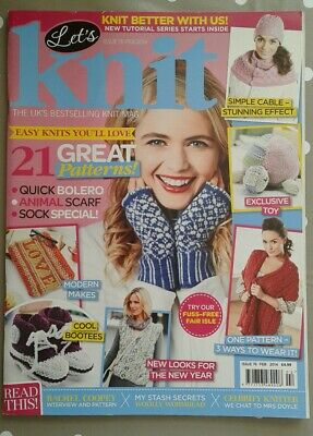 'Let's Knit' Magazine Issue 76 - 21 Great Patterns, Modern Makes, Etc.