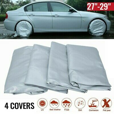 """Waterproof Tire Covers 4 Wheel&Tyre RV Trailer Camper Sun Protector 27"""" To 29"""""""