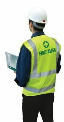 Unisex Hi Vis First Aider Vest Waistcoat Safety Jacket XXL