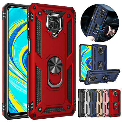 For Xiaomi Redmi Note 9S 9 Pro Max 8T Hybrid Shockproof Armor Ring Holder Case