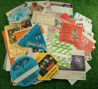 Vintage Rock Pop Heavy Metal Concert Tickets & Passes etc - Lots To Choose From!