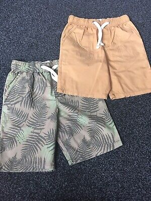Marks And Spencer Boys Shorts X2 Age 7-8 Years