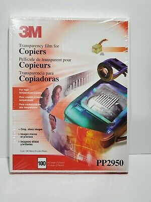 3M Transparency Film for Copiers PP2950 100 Sheets 8.5 x 11  New Sealed