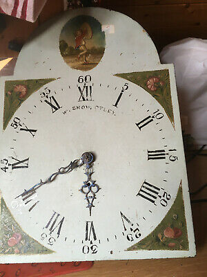 Antique arch dial clock face and moment  maker  w Snow from otley I will post