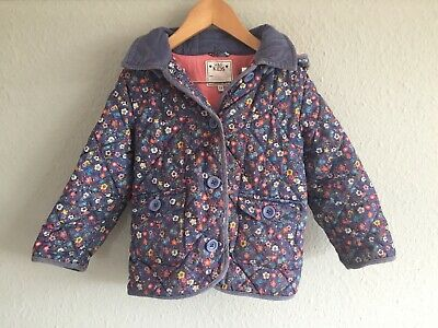 M&S Girls Floral Coat With Hood Age 3 - 4 Years. Excellent Condition