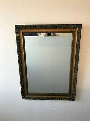 Beautiful Antique Carved Wood Ornate Framed Wall Mirror