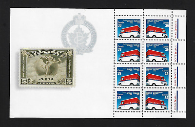 Canada Stamps — Pane of 8 — Canada Post Corporation #1273a MNH