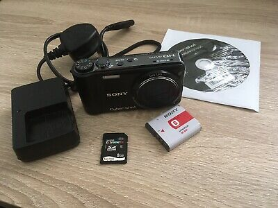 Sony Cybershot DSC HX5V 10.2MP Black GPS Digital Camera with 8GB SD card - BOXED