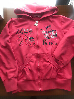 Girls Pink Hoodie Blouse Size 7-8 Years