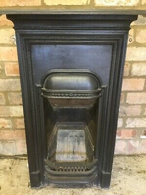 antique edwardian cast iron small fireplace surround