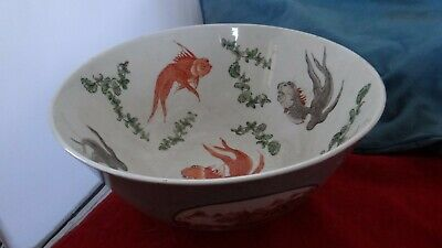 Very Fine Old Large Chinese Porcelain Export Fish Bowl