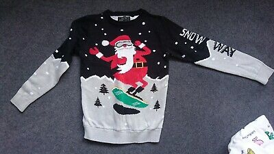 Boys Next christmas jumper Age 9 Worn Once