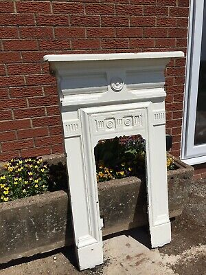 Antique/Victorian Reclaimed cast iron fireplace surround Including Fire Basket