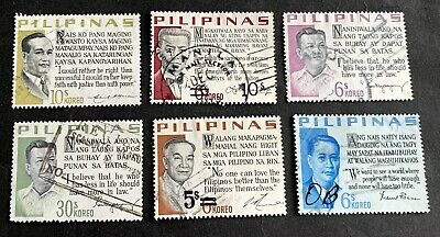 Philippine Islands Filipinas - 6 used stamps