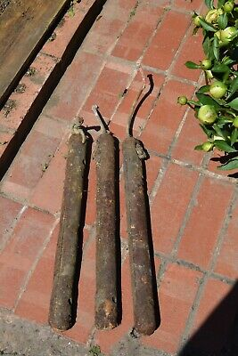 Original Victorian Cast Iron Sash Window Weight - Weights x 3