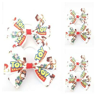 Handmade Girls Toy Story Hair Bow Bobbles Sold in Pairs