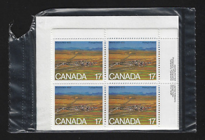 Canada Stamps — Set of 4 Blocks — 1980, Strip mining and town, Alberta #864* MNH