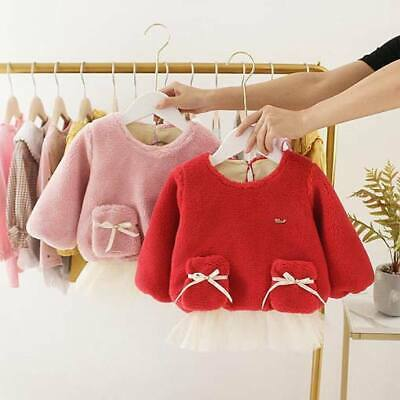Baby Kid Warm Dresses Floral Clothes Winter Casual Dress Girl Padded Toddler