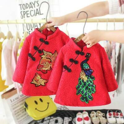 Girl Winter Dress Casual Baby Padded Warm Dresses Clothes Kid Toddler Floral