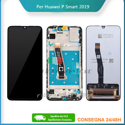 Schermo Vetro Display Lcd Touch Screen Per Huawei P Smart 2019 Pot-Lx1 Lx2 +Gls!