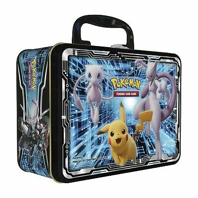 Pokemon Pikachu Mew Mewtwo Chest Tin Empty - Pokemon Card Storage - Lunch Box