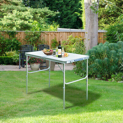 3FT Portable Camping Folding Table Aluminum Adjustable Outdoor Picnic Party BBQ