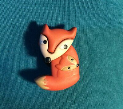 Cute WOODLAND Forest Animal - Red FOX & BABY Croc Accessories Shoe Charms