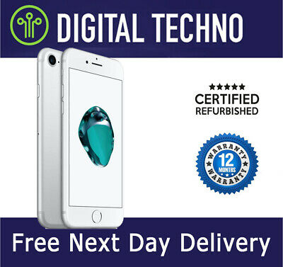 Unlocked Apple iPhone 7 - Silver - 128GB - Network & SIM Free + Warranty - VGC