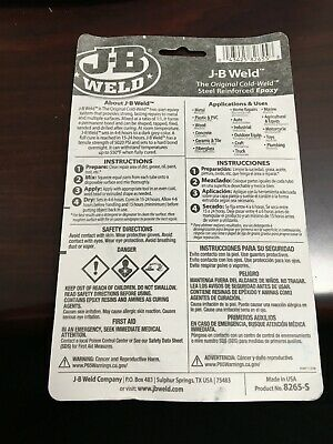J-b Weld 8265S Cold Weld Steel Reinforced Epoxy With Hardener 2 Oz .