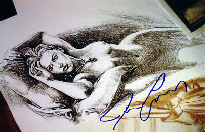 """Titanic Jack's """"Drawing"""" Facsimile Signed by James Cameron"""