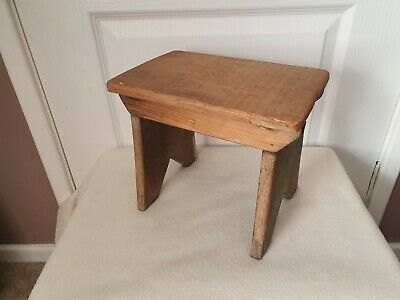 Rustic Wooden Milking Stool Small Wood Child's Stool Foot Rest