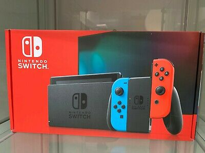 Brand New  Nintendo Switch Neon Red and Neon Blue Joy-Con Console (IN HAND)