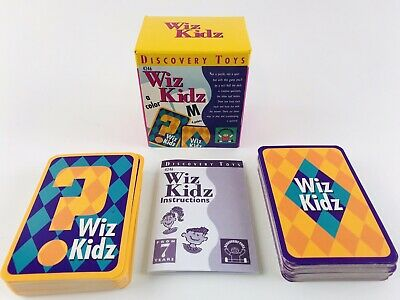 Discovery Toys Wiz Kidz Educational Card Game Ages 7+ 1999