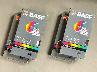 Lot of 4 BASF T-120 Extra Quality VHS Cassette Tapes, NEW