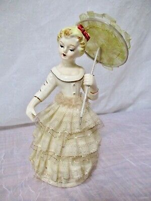 Vintage Ceramic Lady Figurine With Parasol