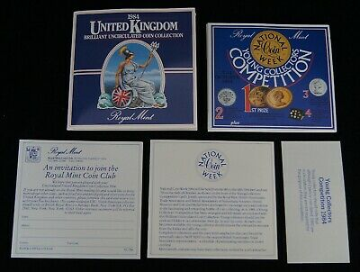 1984 Royal Mint United Kingdom Brilliant Uncirculated Coin Collection Mint A8627