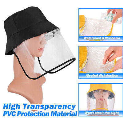 Reuse Protective Cap Fisherman Full Face Hat Kids Adults with Shield Protect Hat