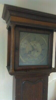 Antique Long Case Grandfather Clock - In Need Of Restoration.