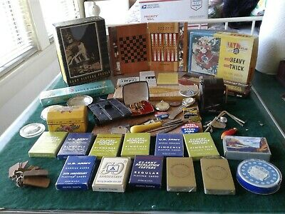 Vintage Estate Junk Drawer- US Army Playing cards Travel games  Puzzles & More