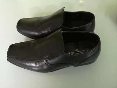 Boys Size 3 Black School / Formal Shoes Mint Condition WORN ONCE