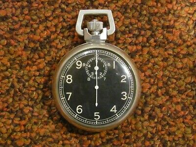 WWII USAAF Army Air Force Elgin Type A-8 navigation stop watch complete & works