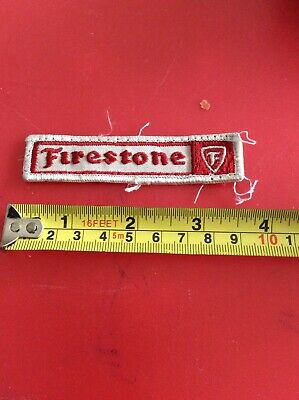 FIRESTONE TYRE RACE DIVISION SEW ON CLOTH BADGE N.O.S.